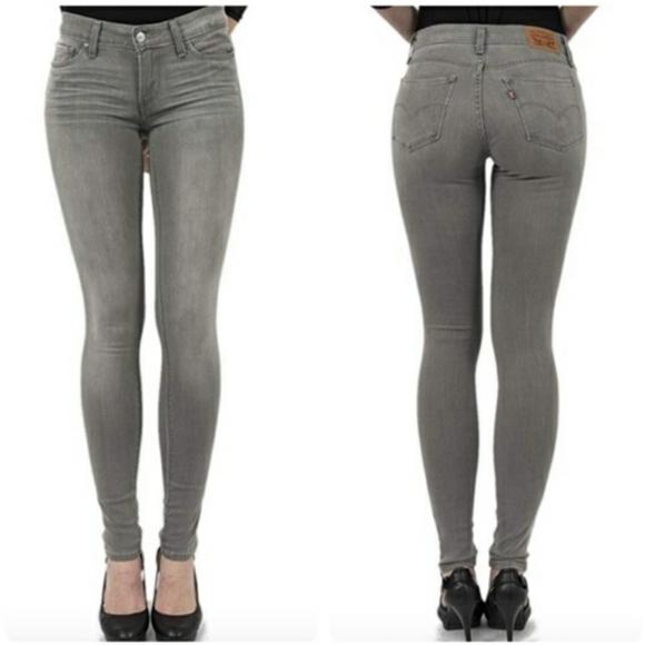Levi's 711 Skinny Grey Wash Jeans 26 x 30